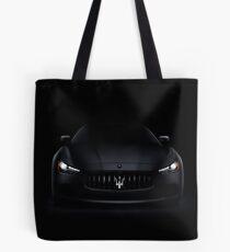 Luxusauto Maseratis Ghibli S Q4 auf schwarzem Kunstfotodruck Tote Bag