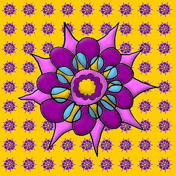 Spirographic Floral Overload by cradox