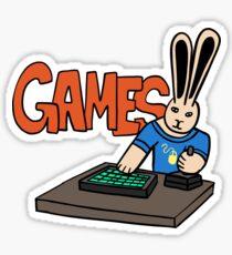 Gamer Bun - Bunny Playing Video Games Sticker