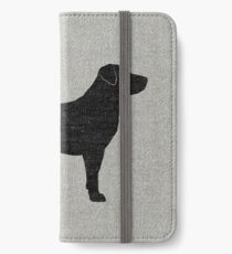 Black Labrador Retriever Silhouette(s) iPhone Wallet/Case/Skin