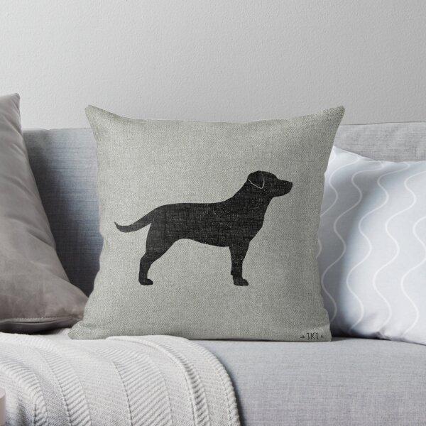 Black Labrador Retriever Silhouette(s) Throw Pillow