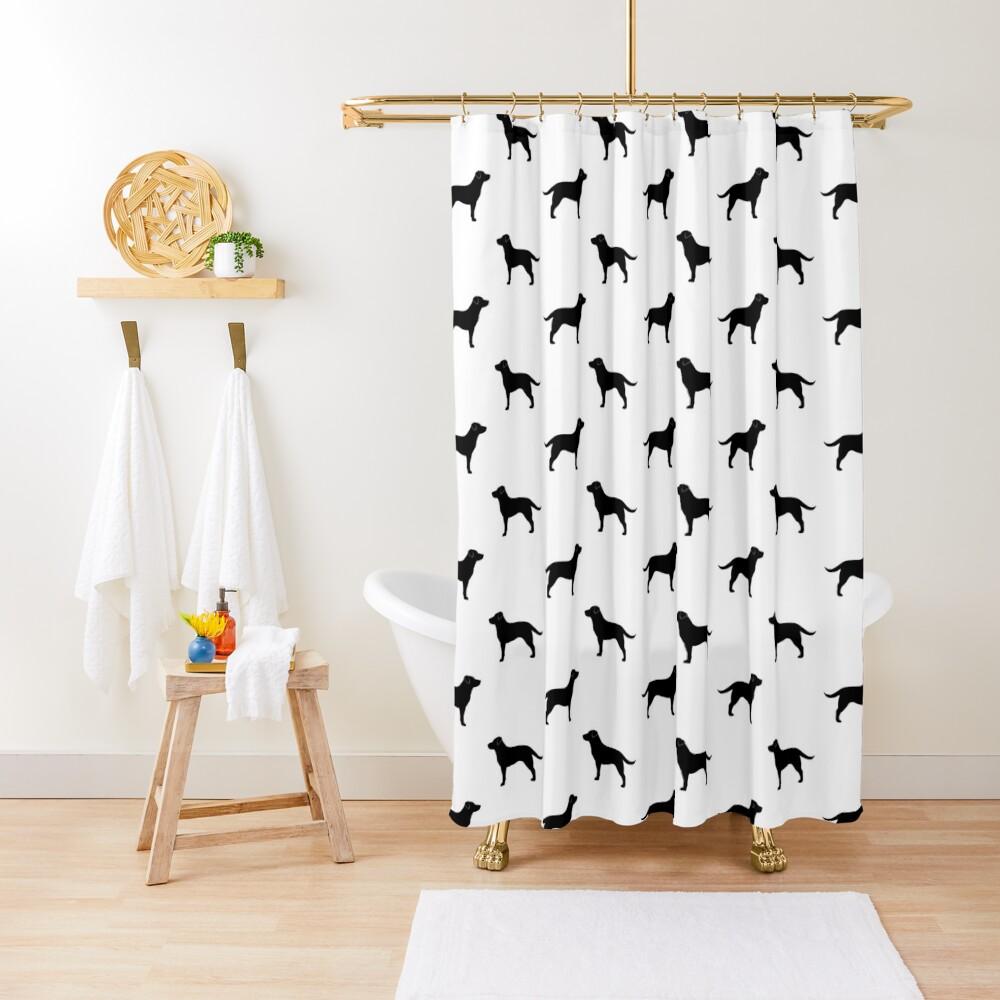 Black Labrador Retriever Silhouette(s) Shower Curtain