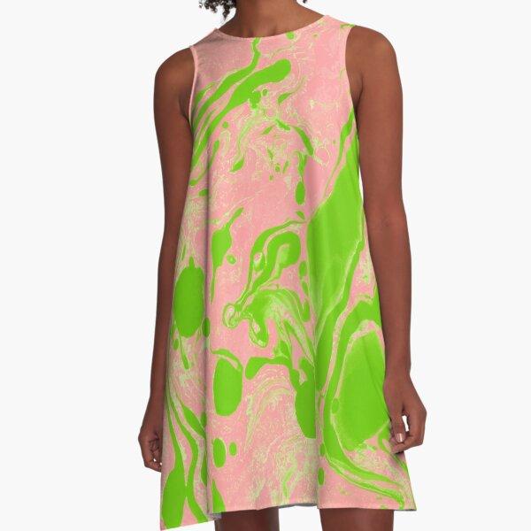 Blush and Greenery #redbubble #decor #buyart A-Line Dress