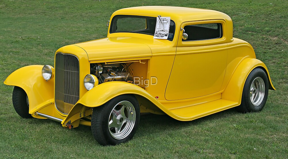 Yellow Hot Rod by BigD