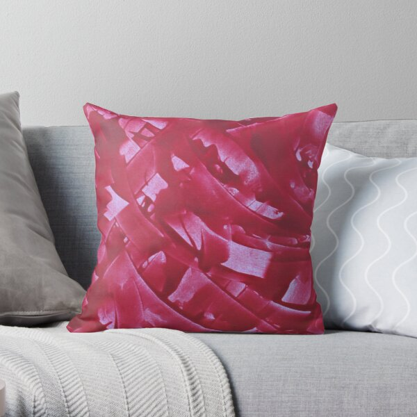 """Energetic Abstractions - """"Raspberry Swirls"""" Throw Pillow"""