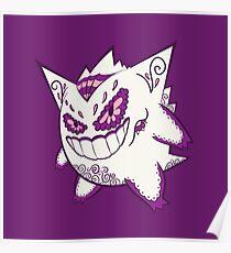 Spiky Purple Muerto Poster