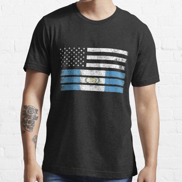 Bandera americana guatemalteca - camisa de los EEUU Guatemala Camiseta esencial