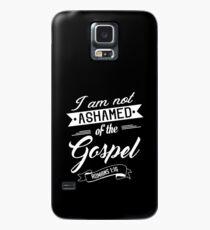 Bibelvers Ich schäme mich nicht für das Evangelium Römer 1:16 Hülle & Klebefolie für Samsung Galaxy
