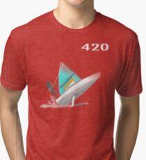 420-sailboat-01 Tri-blend T-Shirt