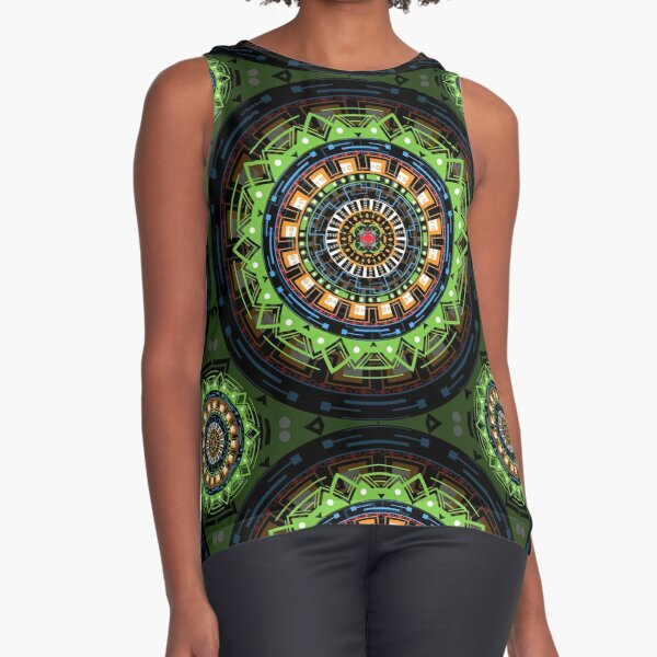 Tecno Mandala Sleeveless Top
