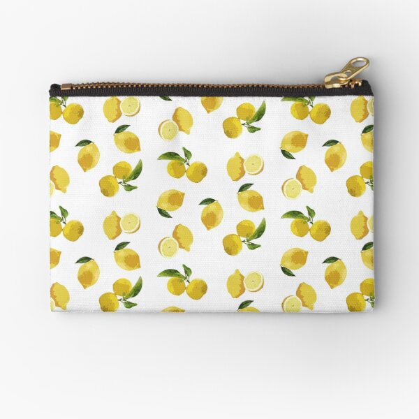 Large digital lemons Zipper Pouch