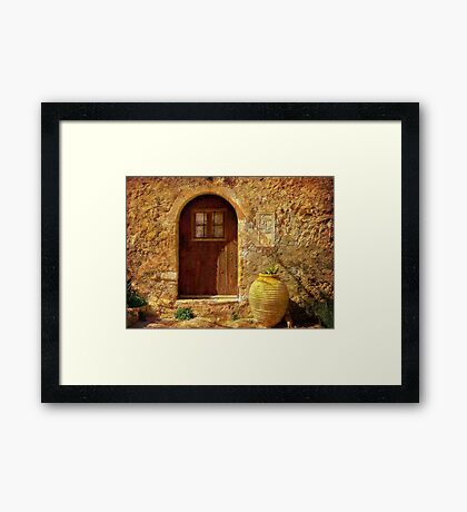 Cottage In The Sun Framed Print