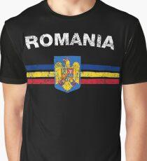 Romanian Flag Shirt - Romanian Emblem & Romania Flag Shirt Graphic T-Shirt