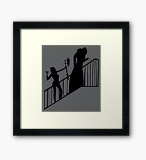 Buffy VS Count Orlok! Framed Print
