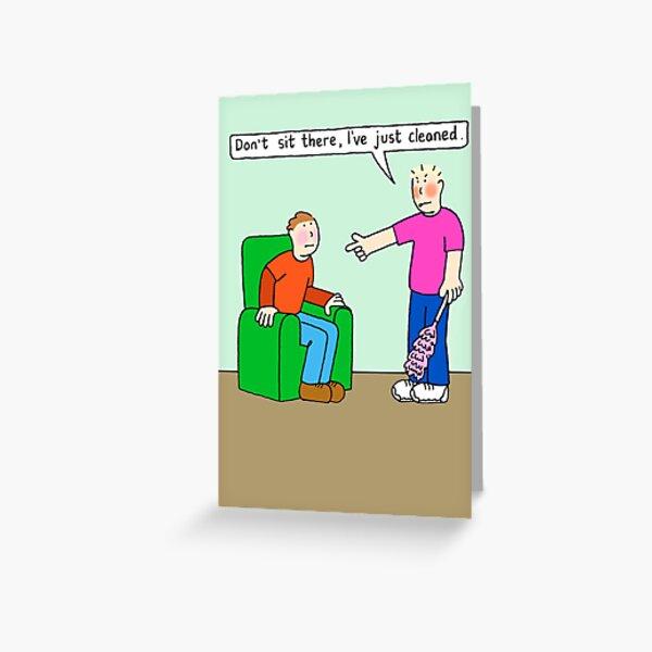 Gay New Home, Houseproud Cartoon Humor. Greeting Card