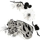 Tiger and Chrysanthemums by Shogam