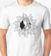 Element of Earth. Zodiac sign Virgo. BW sketch T-Shirt