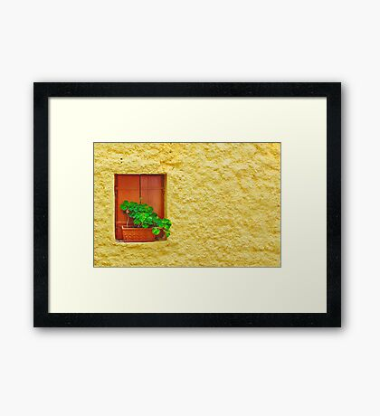 The Yellow Wall Framed Print