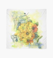 Chrysanthemum Bouquet Scarf