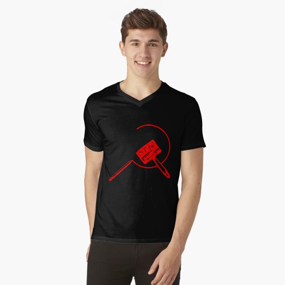 Art Community (Black and Red) V-Neck T-Shirt