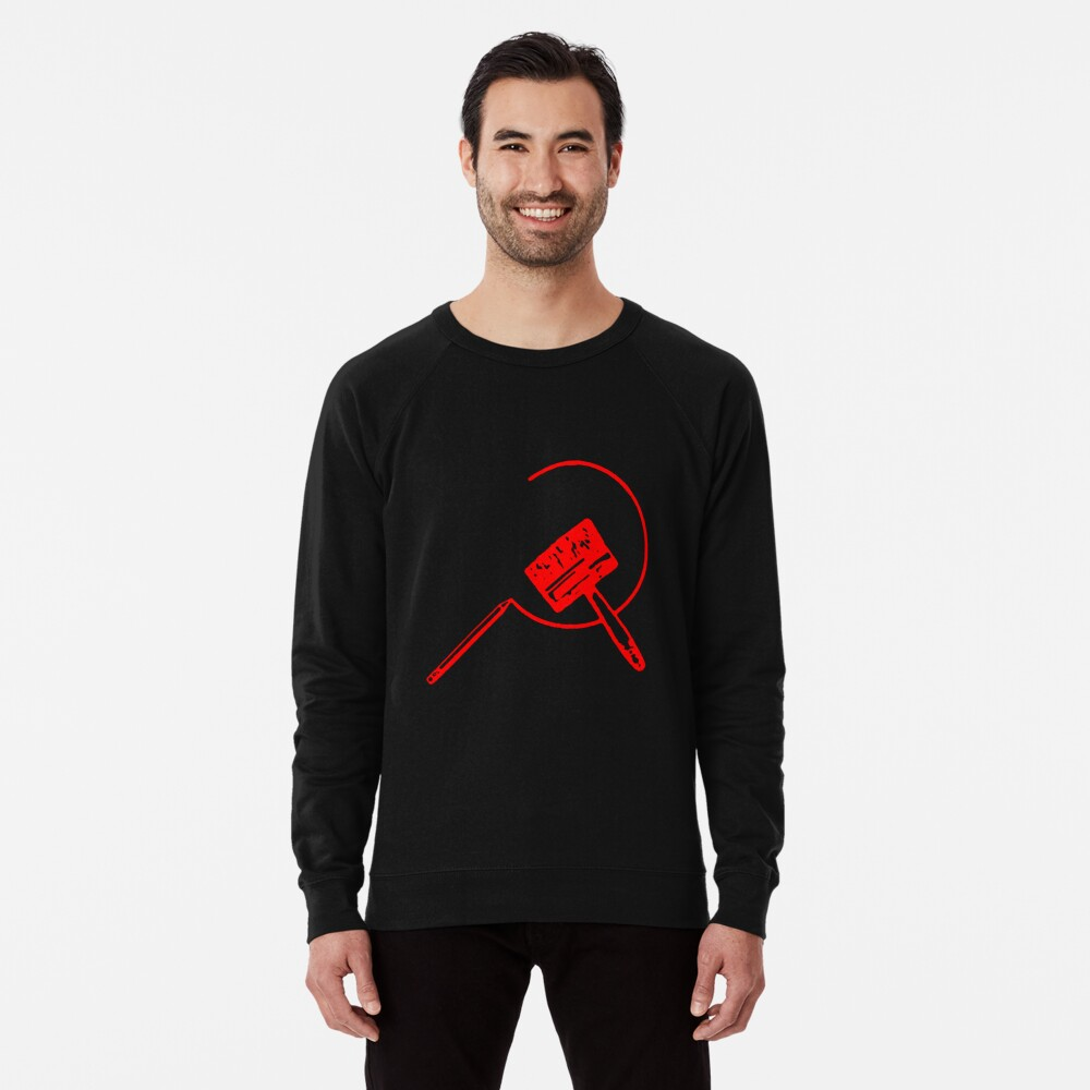 Art Community (Black and Red) Lightweight Sweatshirt