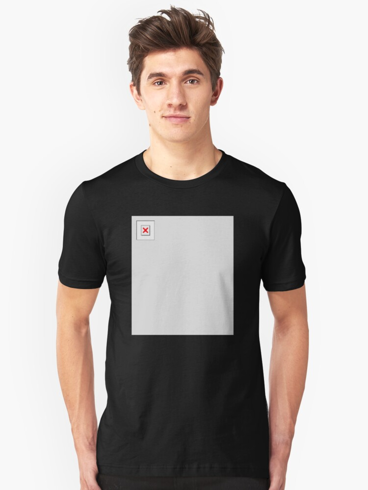 Image Not Found Unisex T-Shirt Front