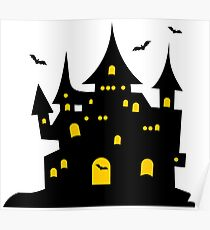 Haunted Halloween Mansion Poster