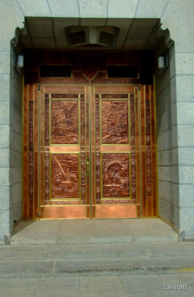 St. Anne's Basilica entry door by LenitaB
