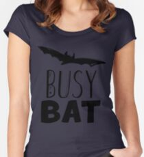 Busy Bat Women's Fitted Scoop T-Shirt