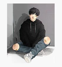 Yoongi is bored Photographic Print
