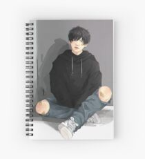 Yoongi is bored Spiral Notebook