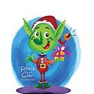 Happy Christmas Elf by Rebecca Gibbs