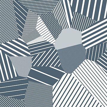 Finite resistance #83 - Voronoi Stripes by EsqueDesign