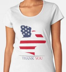 Thank You - Kid Salutes - Veteran - Patriot T-Shirt Women's Premium T-Shirt