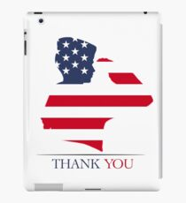 Thank You - Kid Salutes - Veteran - Patriot T-Shirt iPad Case/Skin