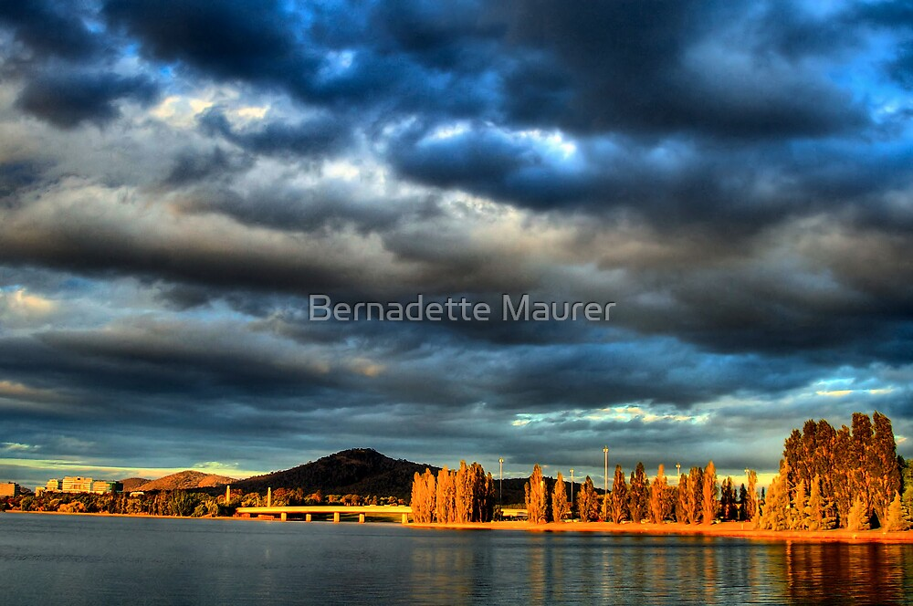 Sunsets on Canberra by Bernadette Maurer