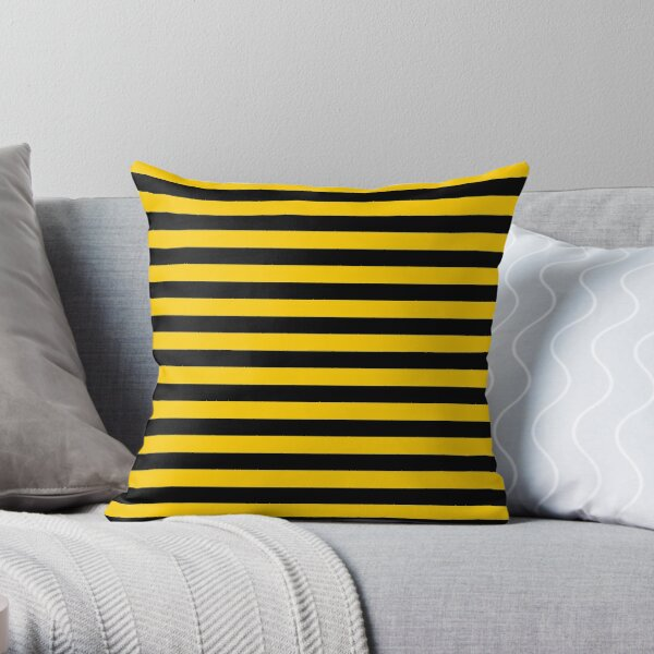 Black and Yellow Bee   Stripes   Halloween Outfit Throw Pillow