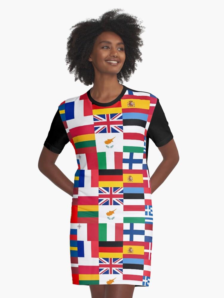 494b92b90 Europe t-shirt | I love European Union | Globetrotter Graphic T-Shirt Dress