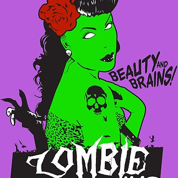 Zombie Rockabilly Pinup by deerokone