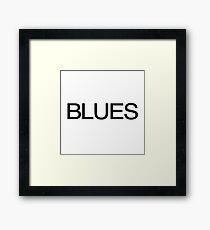 Blues   Favourite Music Framed Print