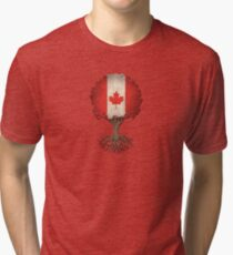 Tree of Life with Canadian Flag Tri-blend T-Shirt