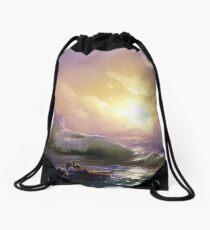 The Ninth Wave Drawstring Bag