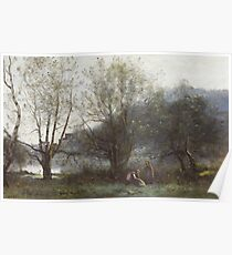 The Ponds of Ville d'Avray Jean-Baptiste-Camille Corot Poster