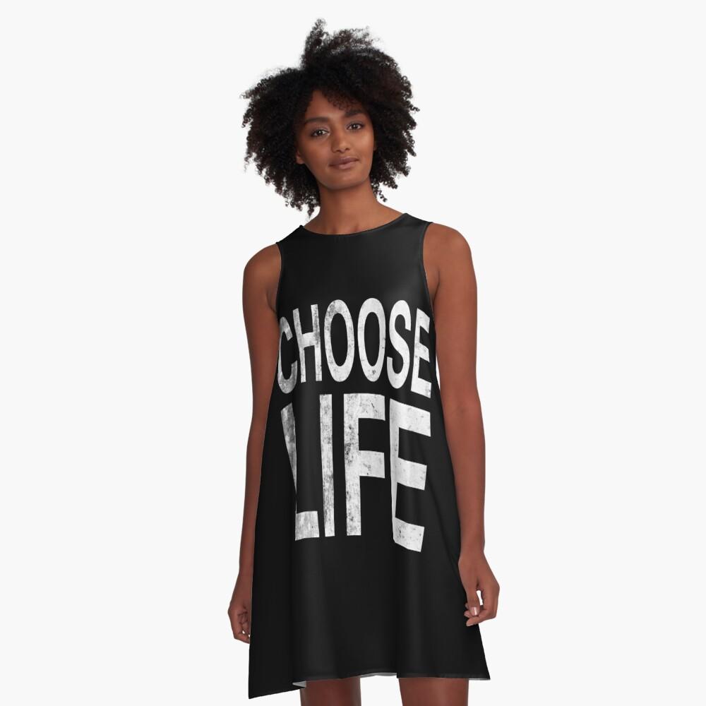 Choose life | Wham | Quote A-Line Dress