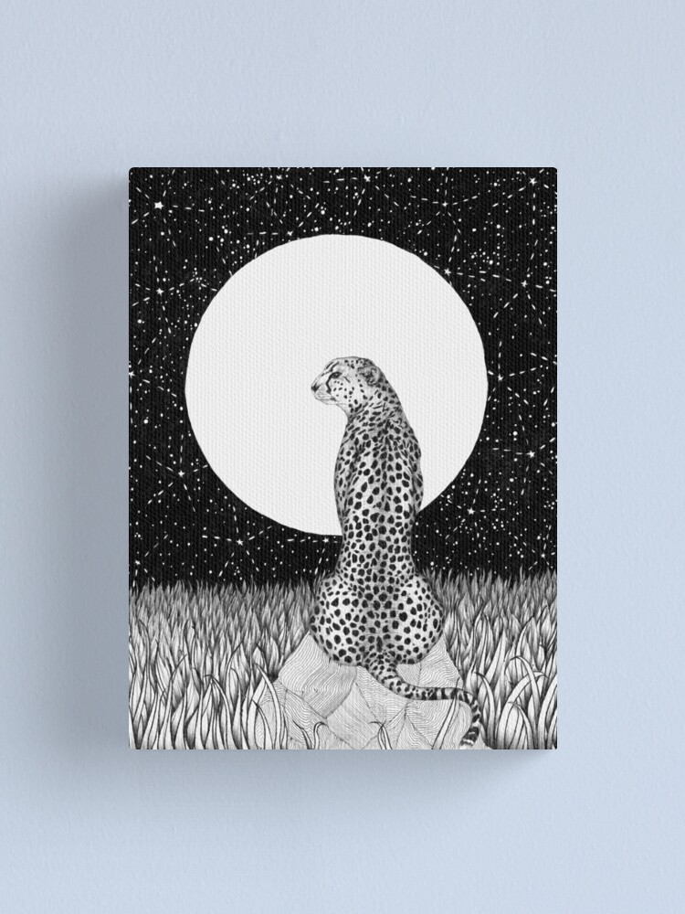 Alternate view of Cheetah Moon Canvas Print
