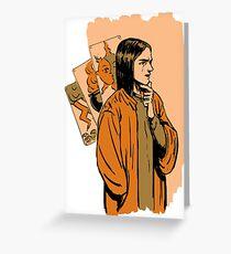 Tarot wizard Greeting Card