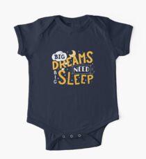 Big dreams need big sleep - Night Short Sleeve Baby One-Piece