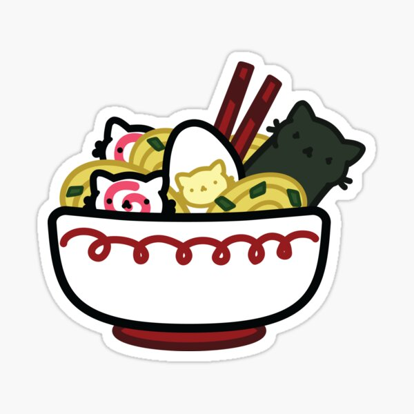 Marshmallow Bean and friends - We are ramen Sticker