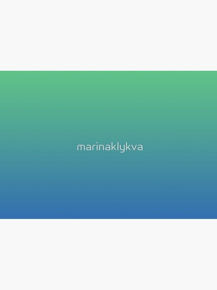 Blue, green gradient. Ombre. by marinaklykva
