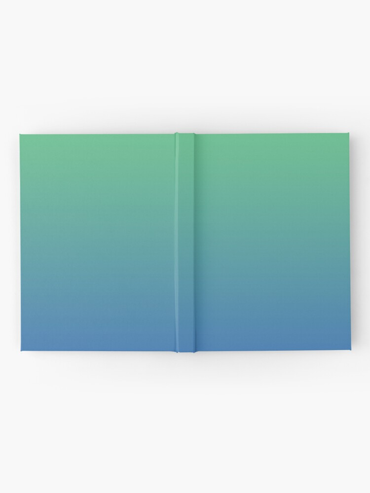 Alternate view of Blue, green gradient. Ombre. Hardcover Journal